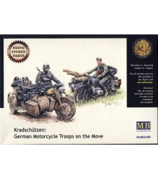 1:35 Kradschützen: German Motorcycle Troops on the Move - 3 figures