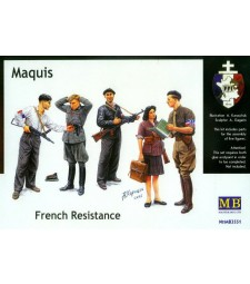 1:35 Maquis, French Resistance - 5 figures