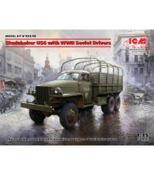 1:35 Studebaker US6 with WWII Soviet Drivers