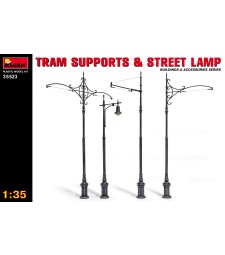 1:35 Tram Supports and Street Lamps