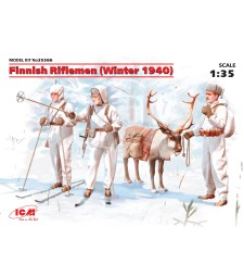 1:35 Finnish Riflemen (Winter 1940) (4 figures - 3 rifleman, 1 reindeer) (100% new molds – 2016)