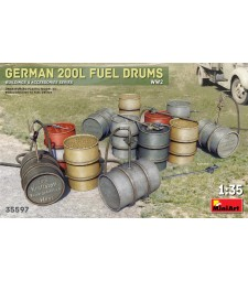 1:35 German 200L Fuel Drum Set WW2
