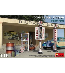 1:35 German Gas Station 1930-40s