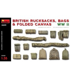 1:35 British Rucksacks, Bags & Folded Canvas WW2
