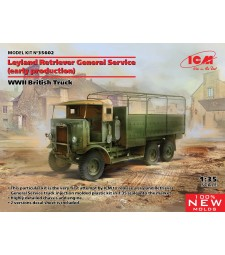 1:35 Leyland Retriever General Service (early production), WWII British Truck