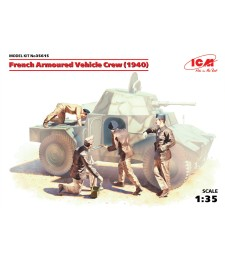 1:35 French Armoured Vehicle Crew (1940) (4 figures) (100% new molds – 2016)