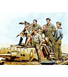 1:35 Rommel and German Tank Crew, DAK, WW II era  - 6 figures