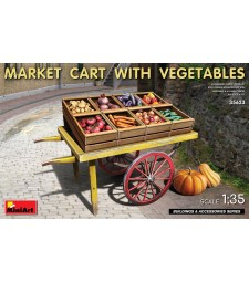 1:35 Market Cart with Vegetables