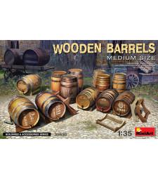 1:35 Wooden Barrels. Medium Size