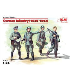 1:35 German Infantry (1939-1941) (4 figures) (100% new molds)