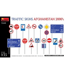 1:35 Traffic Signs. Afghanistan 2000's
