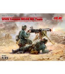 1:35 WWII German MG08 MG Team (2 figures) (100% new molds)