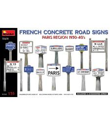 1:35 French Concrete Road Signs 1930-40's. Paris Region