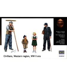 1:35 Civilians, Western region, WW II era - 4 figures