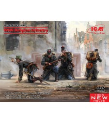 1:35 WWI Belgian Infantry (100% new molds)