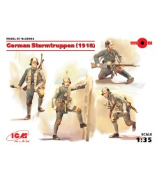 1:35 German Sturmtruppen (1918) (4 figures) (100% new molds)