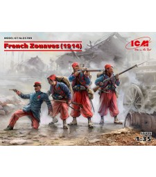 1:35 French Zouaves (1914) (4 figures)  (100% new molds)