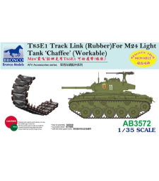 1:35 T85E1 Track Link (Rubber Type) For M24 Light Tank 'Chaffee'