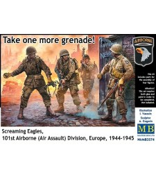 1:35 Take one more grenade! Screaming Eagles, 101st Airborne (Air Assault) Division, Europe, 1944-1945 - 4 figures