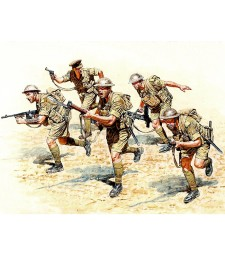 1:35 British Infantry in action, Northern Africa, WW II era  - 5  figures