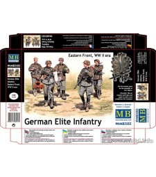1:35 German Elite Infantry, Eastern Front, WW II era  - 5  figures