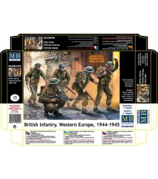 1:35 British Infantry. Western Europe. 1944-1945  - 5  figures