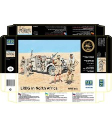 1:35 LRDG in North Africa, WWII era  - 5  figures