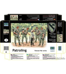 1:35 Patroling. Vietnam War series  - 5  figures