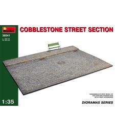 1:35 Cobblestone street section