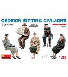 1:35 German Sitting Civilians '30s-'40s - 5 figures
