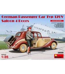 1:35 German Passenger Car Typ 170V Saloon 4 Doors with 1 figure