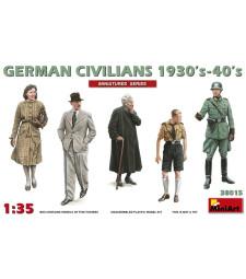 1:35 German Civilians 1930-40s - 5 figures
