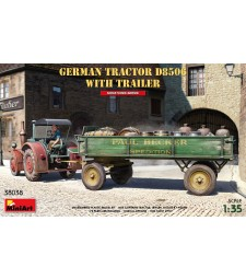 1:35 German Tractor D8506 with Trailer