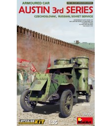 1:35 Austin Armoured Car 3rd Series: Czechoslovak,  Russian, Soviet Service. Interior Kit