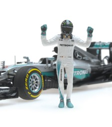 MERCEDES AMG PETRONAS F1 TEAM - F1 W07 HYBRID - ROSBERG - WORLD CHAMPION 2016 - W/FIGURINE