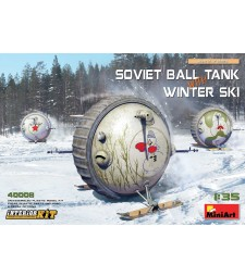 1:35 Soviet Ball Tank with Winter Ski. Interior Kit
