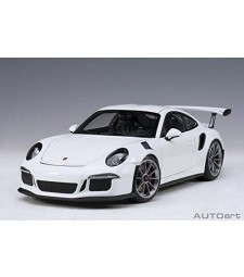 Porsche 911 (991) GT3 RS White with Dark Grey Wheels (composite model/full openings)
