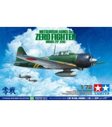 1:72 Mitsubishi A6M3/3a Zero Fighter Model 22 (Zeke) - 1 figure