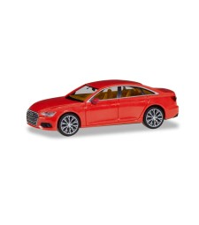 AUDI A6 ® SEDAN, FLAME RED WITH TWO-TONE RIMS