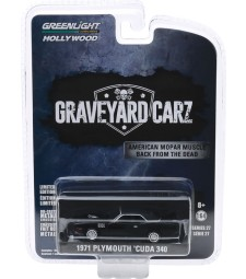 Hollywood Series 27 - Graveyard Carz (2012-Current TV Series) - 1971 Plymouth 'Cuda 340 (Season 2 - Phantasm 'Cuda) Solid Pack