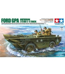 1:35 U.S. Ford G.P.A. Amphibian Jeep w/ PE Parts - 3 figures