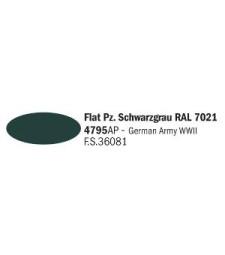 Flat Pz. Schwarzgrau RAL 7021 - Acrylic Paint (20 ml)