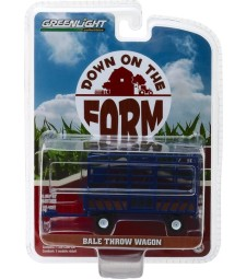 Bale Throw Wagon - Blue Solid Pack - Down on the Farm Series 2