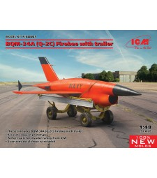 1:48 ВQM-34А (Q-2С) Firebee with trailer  (1 airplane and trailer)
