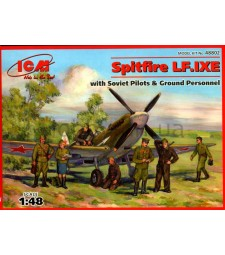 1:48 Spitfire LF.IXE with Soviet Pilots and Ground Personnel
