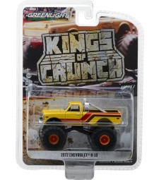 1972 Chevrolet K-10 Monster Truck - Yellow, Orange, Red and Brown Solid Pack - Kings of Crunch Series 1