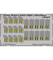 1:48 Photo-etched parts for Remove Before Flight - yellow & black