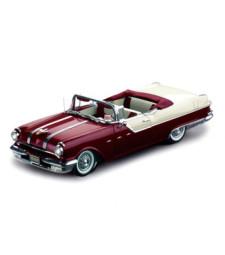 Pontiac Star Chief 1955 Open Convertible - White Mis/Persian Maroon