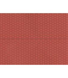 Market Pavement - Reddish-brown (single, 100 x 200 mm)