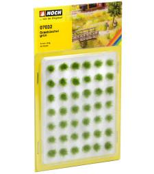 Grass Tufts green flock, 42 pieces, 6mm
